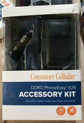 Consumer Cellular DORO 626 Car Charger and Accessory Kit Black