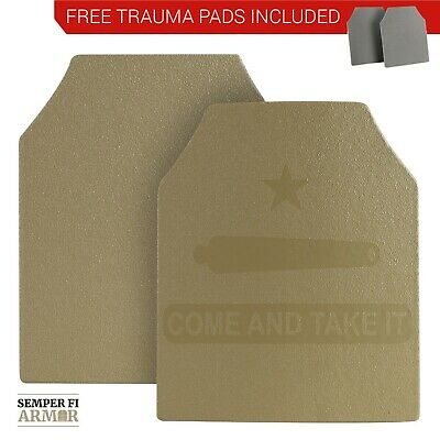 Body Armor AR500 Plates Two 10X12s in Federal Standard Tan - Side Plate Options