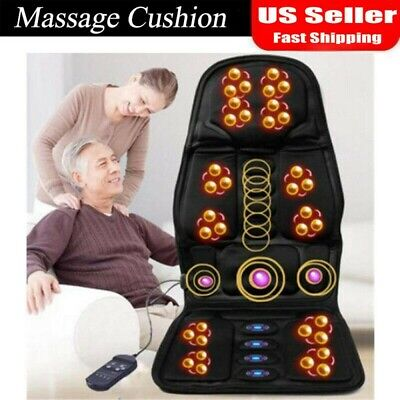 8 Mode Massage Seat Cushion with Heated Back Neck Massager Chair for Home - Car