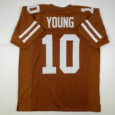 New VINCE YOUNG Texas Orange College Custom Stitched Football Jersey Size XL