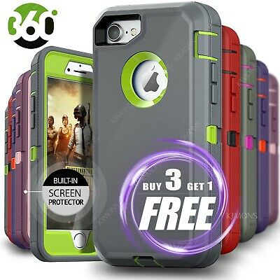 iPhone 12 Pro Max 6 7 8 11 Plus XS XR X Hard Shockproof Case Rugged Hard Cover