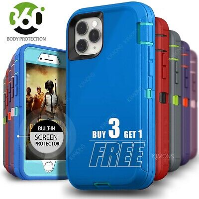 iPhone 11 8 7 6 Plus XS Max XR X SE Pro Shockproof Case Screen Protector