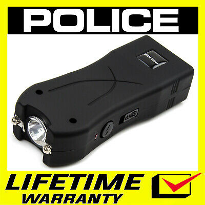 POLICE Stun Gun Mini 398 550 BV Rechargeable LED Flashlight - Black
