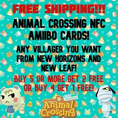 TOP 50 MOST POPULAR ANIMAL CROSSING NFC AMIIBO CARDS - ANY VILLAGER YOU WANT