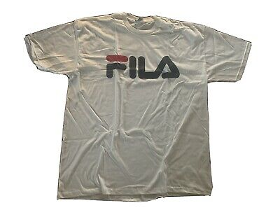 Vintage 90s Fila Made In USA T-Shirt White Sz- XL NWOT Tennis Wimbledon