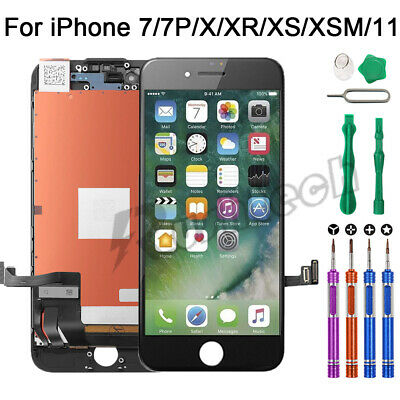 iPhone 7 7 Plus LCD Touch Display Screen Digitizer Replacement OEM-9 In 1 Tools