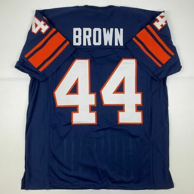 New JIM BROWN Syracuse Blue College Custom Stitched Football Jersey Mens XL