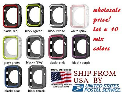 lot 10 Silicone cover 3840mm 42mm 44mm For Nike- Apple Watch Series 1 2 3 4 5