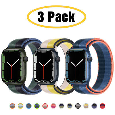 For Apple Watch Series 6 5 4 3-1 SE 4044mm Nylon Sport Band iWatch Strap 3 PACK