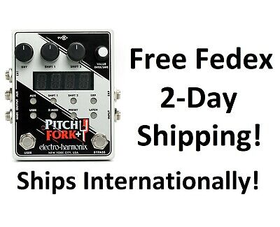 New Electro Harmonix Pitch Fork - Plus Pitch Shifter Guitar Effects Pedal