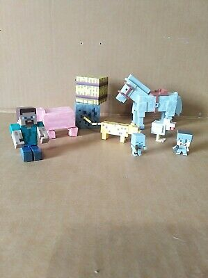 Lot of Minecraft figures and animals