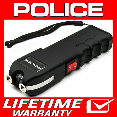 POLICE Stun Gun 928 650 BV Heavy Duty Rechargeable LED Flashlight Black