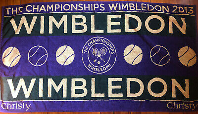 VERY RARE Genuine 2013 Wimbledon Tennis Men's Championships Towel 27X 49