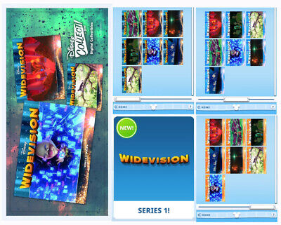 WIDEVISION 21 CARD SET-MAGICAL MOTIONBLUEORANGE-TOPPS DISNEY COLLECT DIGITAL