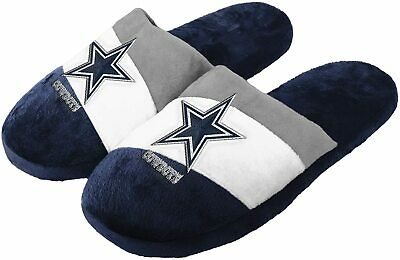 FOCO NFL Dallas Cowboys Mens Slippers Pair Size 1112 Slip On Hard Sole