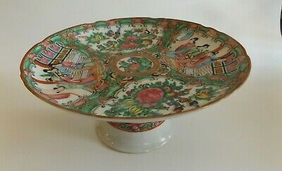 Antique Chinese Famille Rose Pedestal Plate