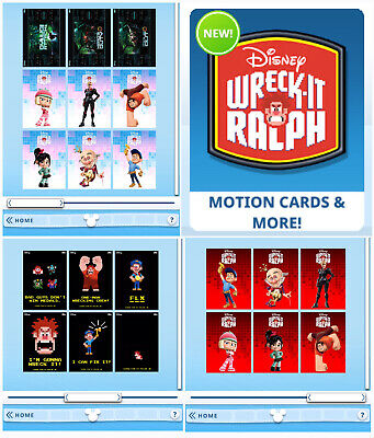 WRECK IT RALPH COLLECTION 21 CARD SET-HERO'S DUTY-TOPPS DISNEY COLLECT DIGITAL