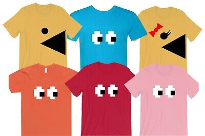 EYES Adult and Youth pacman t-shirt halloween costume funny usa