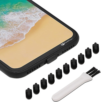 iPhone 87 Charging Port Silicone Cap Cover 10 Pack Lightning Plug Anti Dust