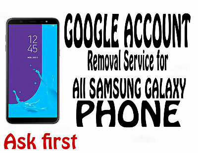 Google account FRP remove service for Samsung Phone  Contact me Before Buy
