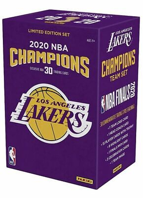 Los Angeles Lakers 2020 NBA Finals Champions Panini 30 Card Team Set