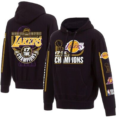 Los Angeles Lakers 17-Time NBA Finals Champions Pullover Hoodie -Black