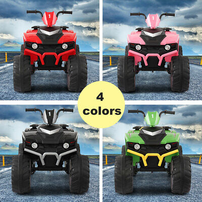 12V Kids Ride On 4-Wheeler Car Electric Battery Powered Toy ATV Car w Pedal