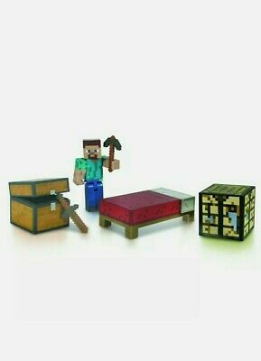 Minecraft Series 1 Overworld Survival Pack Fully Articulated Steve Mojang 2014
