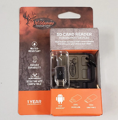 Wildgame Innovations SD Card Reader Android Devices - BRAND NEW