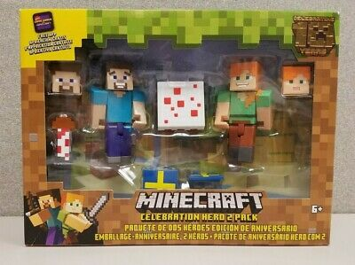 Minecraft 10 Year Celebration Hero 2 Pack Action Figures