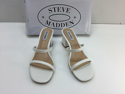 Steve Madden Womens ISSY01S1 Clear Sandals Size 8-5