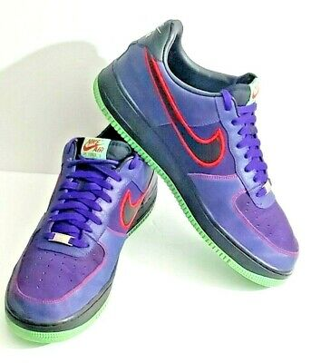 Nike Air Force 1 AF-1 '82  Mens US Size 13 Court Purple Green Bottoms 488298-502