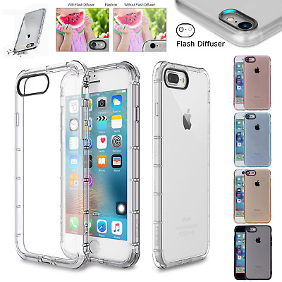For iPhone 11 Pro Max XS XR X 8 7 6 S Plus Shockproof Silicone Case Bumper Cover