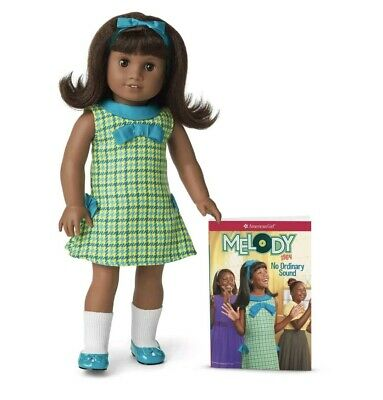 Free ship American Girl 18 MELODY Doll with Book New In Box  Dark Skin