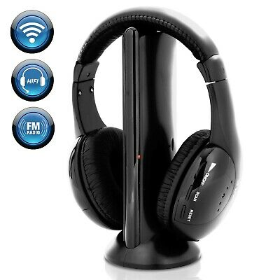 Pyle - PHPW5 - Professional 5 in 1 Wireless Headphone System Built in Mic
