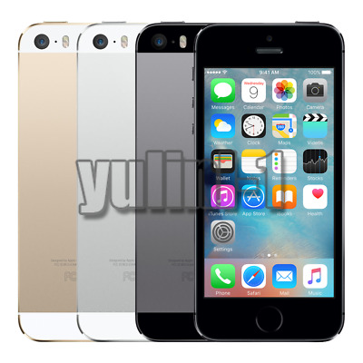 Apple iPhone 5S 16  32 64GB GSM Unlocked Smartphone Grey Gold Silver Excellent