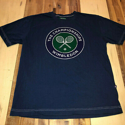 VINTAGE WIMBLEDON THE CHAMPIONSHIPS T SHIRT MENS small s BLUE OFFICIAL TENNIS