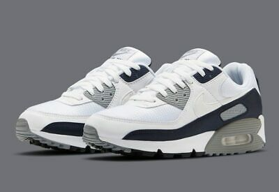 Nike Air Max 90 White Particle Grey Running Shoes CT4352-100 Mens Size 9-5 NEW