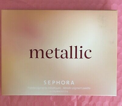 Sephora Metallic Pigment Eye and Face Palette Eyeshadow Highlighter 6 x 0-12 oz