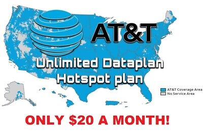 AT-T UNLIMITED 4G LTE DATA ACCOUNT  ATT 20  month YOU OWN IT