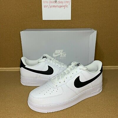 Nike Air Force 1 07 Low White  Black Swoosh Size 9-12 CT2302-100