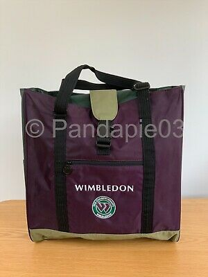 OFFICIAL WIMBLEDON TENNIS CHAMPIONSHIPS TOTE BAG WITH ADJUSTABLE HANDLES NEW