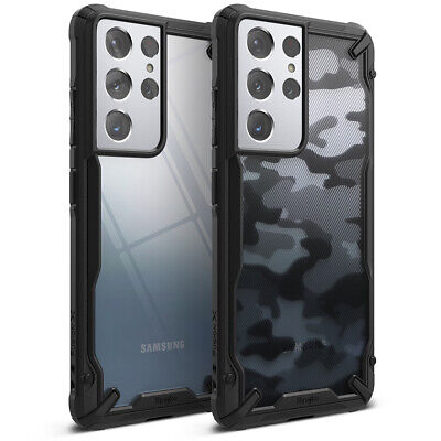 For Samsung Galaxy S21  S21 Plus  S21 Ultra Case Ringke Fusion-X Rugged Cover