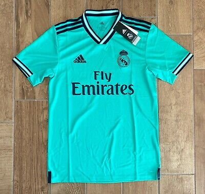 New Authentic Mens Adidas Real Madrid Soccer Jersey Green EH5128 Sz S 90