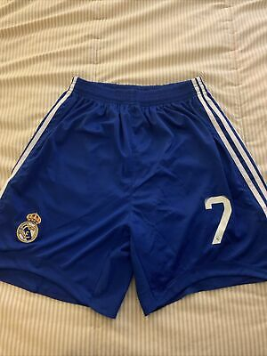 Real Madrid Soccer Shorts Blue Size L