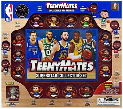 2020 NBA TEENYMATES SERIES 6 BOX COLLECTOR SET 15 TOTAL PIECES NBA LICENSED