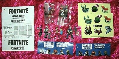 FORTNITE BATTLE ROYALE TRICERA OPS BLUE SQUIRE INFILTRATOR MINI FIGURES STICKERS