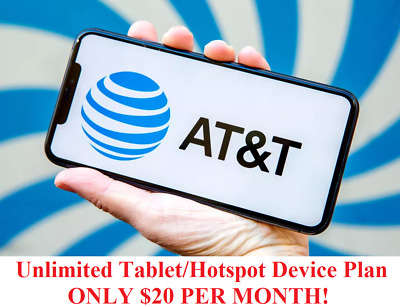 Unlimited Hotspot 4G LTE Data AT-T - 20 Per Month - You own it