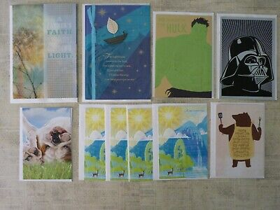 Lot of 10 New Fathers Day Greeting Cards Hallmark UNICEF