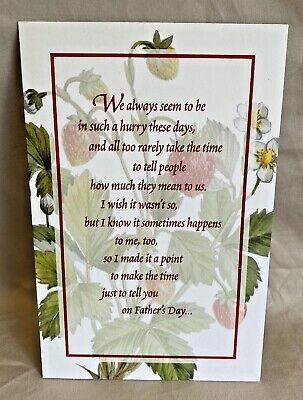 Father's Day Greeting Card wEnvelope NEW